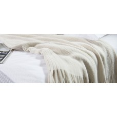 Patricia Rose Wishbone Natural Throw