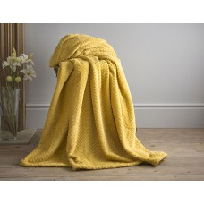 Deyongs 1846 Brampton Chartreuse 260gsm Jacquard Flannel Throw