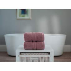 The Lyndon Company Chelsea Zero Twist Mauve Cotton Towels