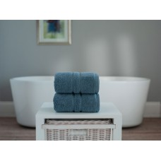 The Lyndon Company Chelsea Zero Twist Ocean Cotton Towels