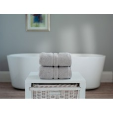 The Lyndon Company Chelsea Zero Twist Silver Grey Cotton Towels