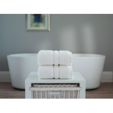 The Lyndon Company Chelsea Zero Twist White Cotton Towels