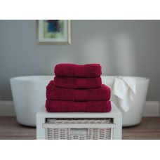 The Lyndon Company Cleopatra Egyptian Cotton Claret Towels