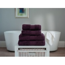 The Lyndon Company Cleopatra Egyptian Cotton Plum Towels