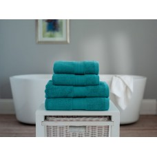 The Lyndon Company Cleopatra Egyptian Cotton Teal Towels