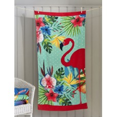 Deyongs 1846 Flamingo Garden Valour Beach Towel