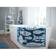 Lobster Creek Coastal Fishes 550gsm Jacquard towels
