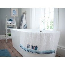 Lobster Creek Coastal Beach Huts 520gsm Embroidered towels