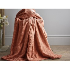 Deyongs 1846 Brampton Chutney 260gsm Jacquard Flannel Throw
