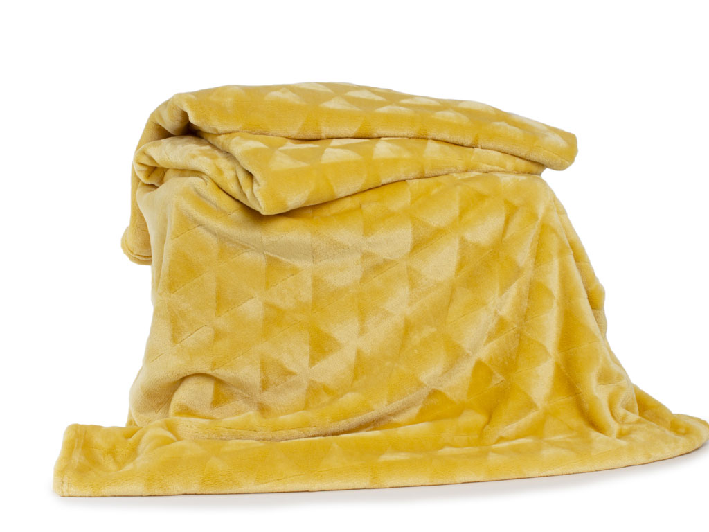 Deyongs 1846 Tamworth Ochre 260gsm Jacquard Flannel Throw