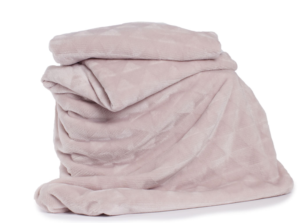 Deyongs 1846 Tamworth Pink 260gsm Jacquard Flannel Throw