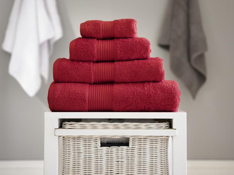 Deyongs 1846 Bliss Pima 650gsm Cotton Berry Towel and Mat Range