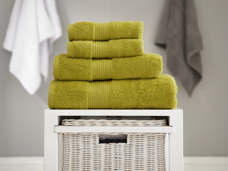 Deyongs 1846 Bliss Pima 650gsm Cotton Olive Towel and Mat Range