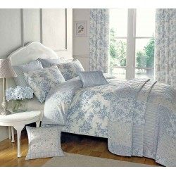 Dreams n Drapes Malton Blue Duvet Cover Sets and Coordinates