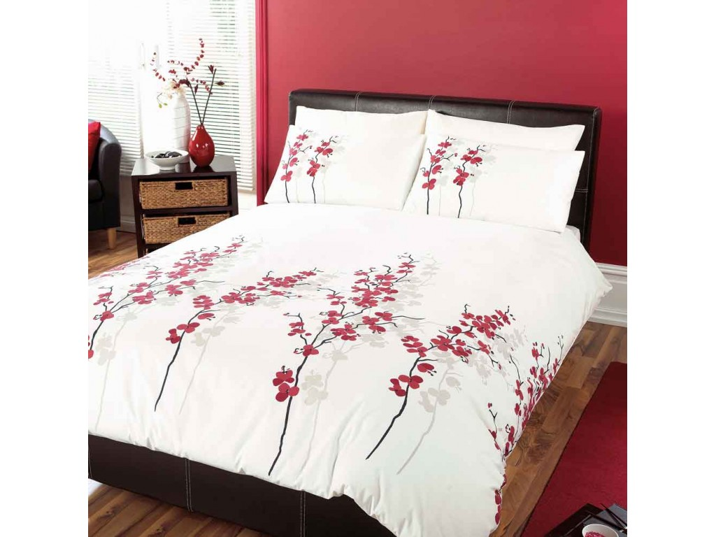 Dreams N Drapes Oriental Flower Duvet Cover Sets