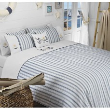 Driftwood Ahoy Embroidered Duvet Cover Sets and Cushion