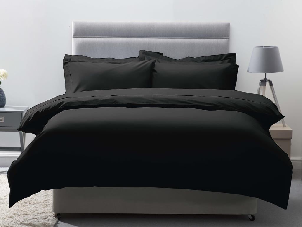 Belledorm 200 Thread Count Egyptian Cotton Duvet Covers In Black