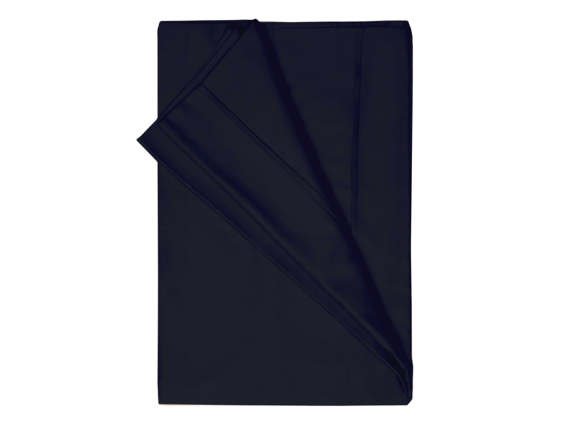 Belledorm 200 Thread Count Egyptian Cotton Flat Sheets In Black