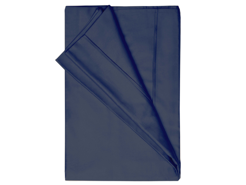 Belledorm 200 Thread Count Egyptian Cotton Flat Sheets In Navy