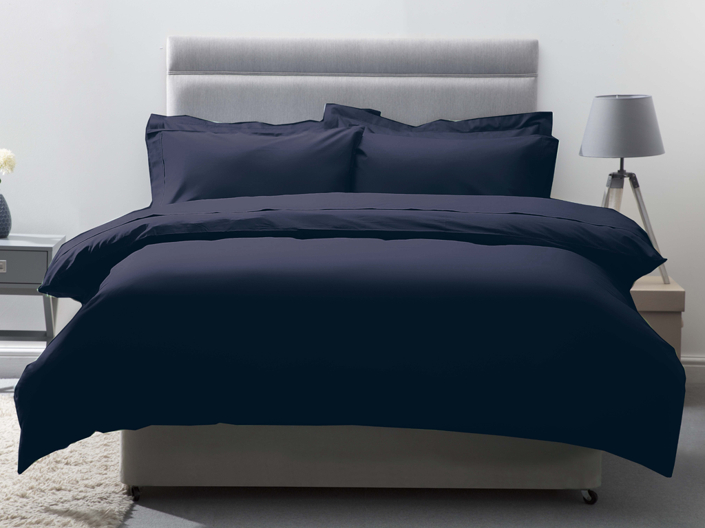 Belledorm 200 Thread Count Egyptian Cotton Duvet Covers In Navy