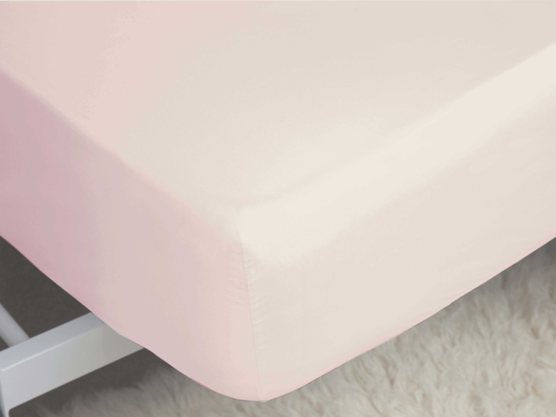 """Belledorm 200 Thread Count Egyptian Cotton 12"""" Powder Pink Fitted Sheets"""