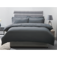 Belledorm 200 Thread Count Egyptian Cotton Pillowcases In Slate