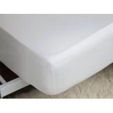 """Belledorm 200 Thread Count Egyptian Cotton 15"""" White Fitted Sheets"""
