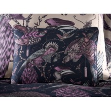 Emma J Shipley New Audubon Navy Boudoir Pillowcase