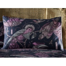 Emma J Shipley New Audubon Navy Housewife Pillowcase Pairs