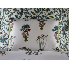 Emma J Shipley New Jungle Palms White Boudoir Pillowcase