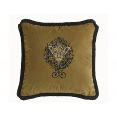 Emma J Shipley New Amazon Gold Square Cushion