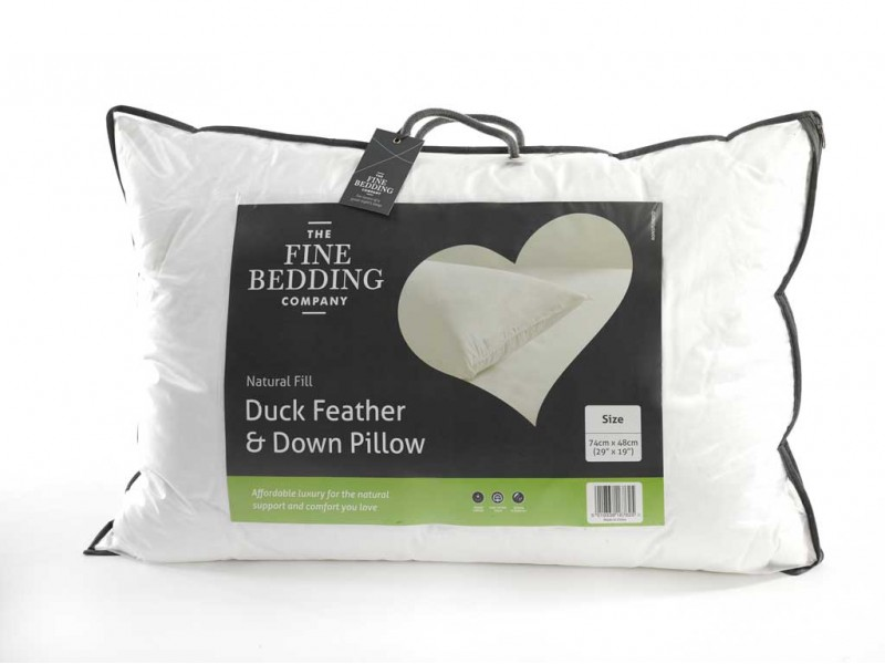 The Fine Bedding Company Duck Feather And Down Pillow