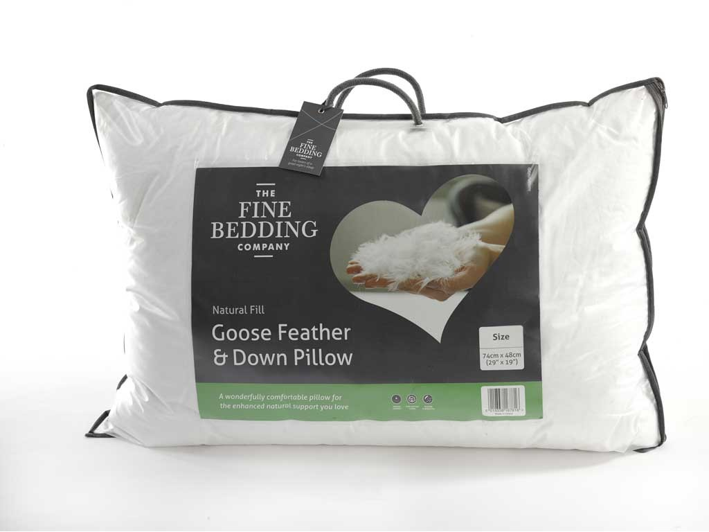 The Fine Bedding Company Goose Feather And Down Pillow
