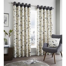 Fusion Beechwood Charcoal Eyelet Curtains and Cushions