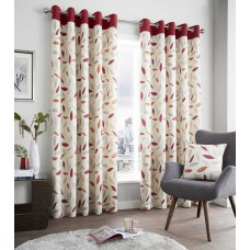 Fusion Beechwood Red Eyelet Curtains and Cushions
