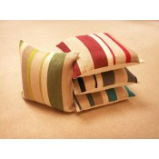 Mason Gray Aspen Striped Chenille Cushion Collection