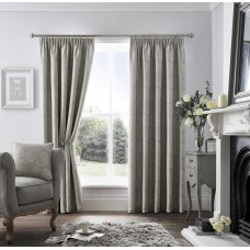 Curtina Pencil Pleat Ashford Dove Grey Curtains and Cushions
