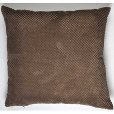 Dreams n Drapes Chenille Spot Chocolate Cushion