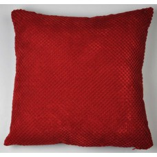 Dreams n Drapes Chenille Spot Red Cushion