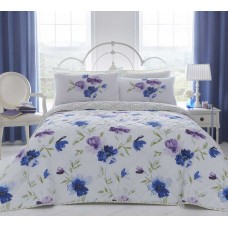 Dreams n Drapes Celestine Blue Bedspread