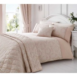 Serene Laurent Rose Damask Jacquard Duvet Cover Sets and Coordinates