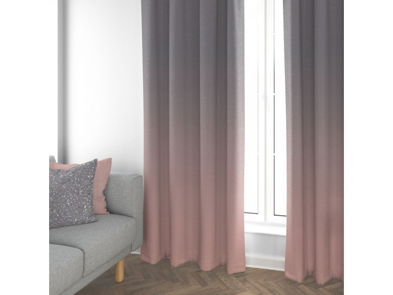 "Cotton Anthology Frost Pink 3"" Pencil Pleat Header Curtains"
