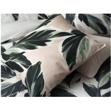 Cotton Anthology Calathea Green/Pink Filled Cushion