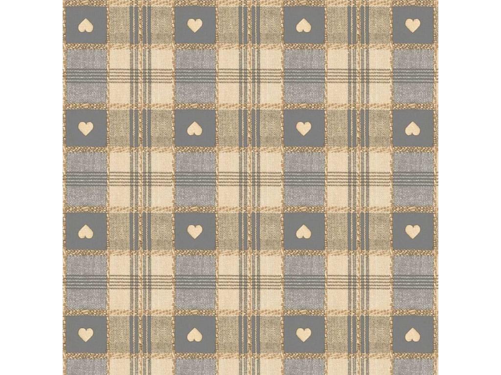 Le Chateau Oil Cloth Table Linen Per Metre Grey Hearts