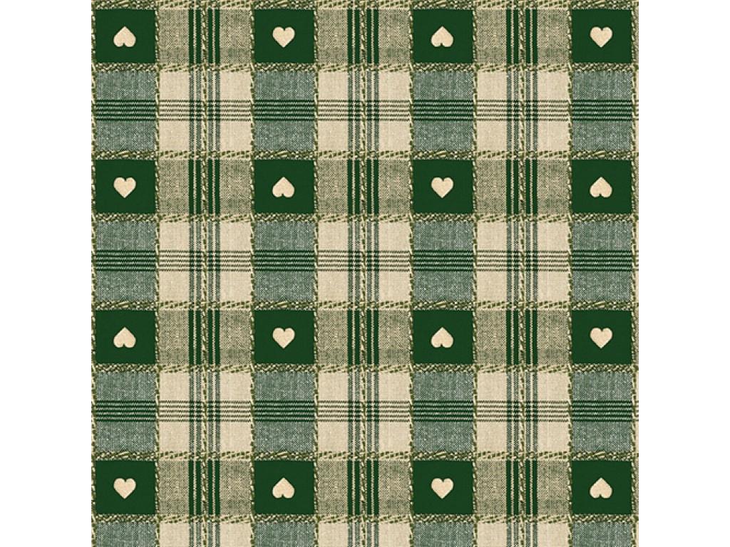 le chateau oil cloth table linen green hearts. Black Bedroom Furniture Sets. Home Design Ideas
