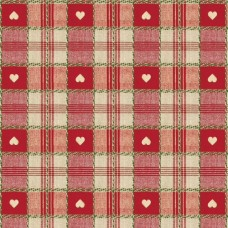 Le Chateau Oil Cloth Table Linen Per Metre Red Hearts