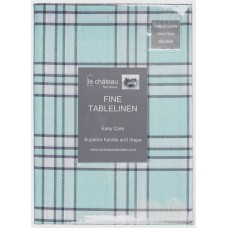 Le Chateau Yarn Dyed Woven Blue Table Cloths