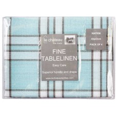Le Chateau Yarn Dyed Woven Blue Napkins