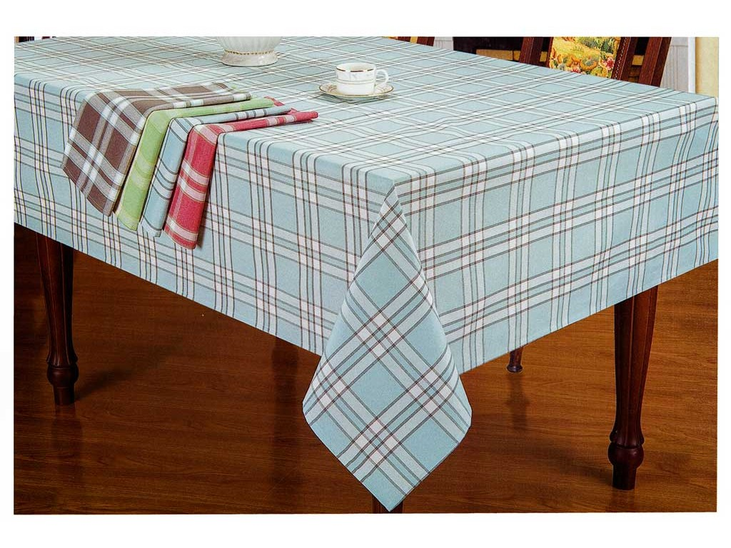 Le Chateau Yarn Dyed Woven Check Coffee Table Cloths