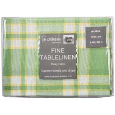 Le Chateau Yarn Dyed Woven Green Napkins